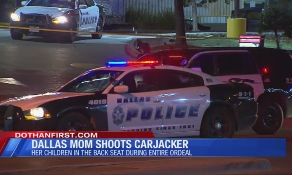 Dallas mom shoots carjackers with kids in car