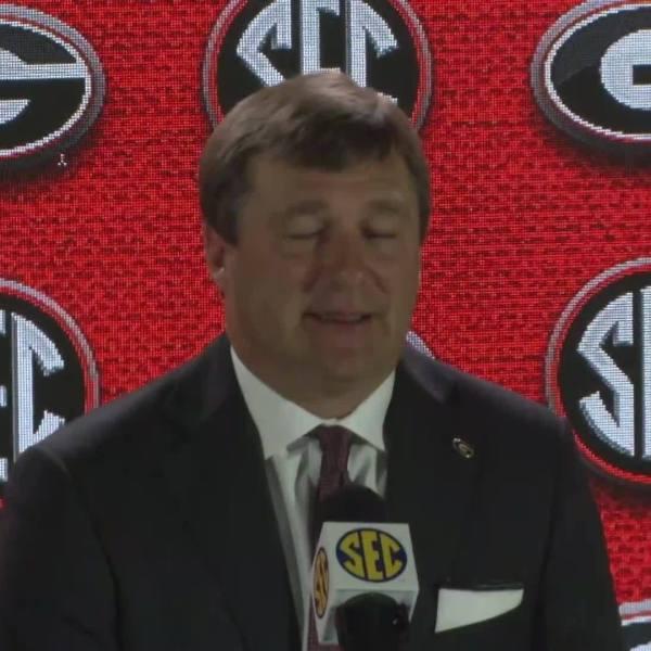 Kirby Smart speaks at SEC Media Days 2018