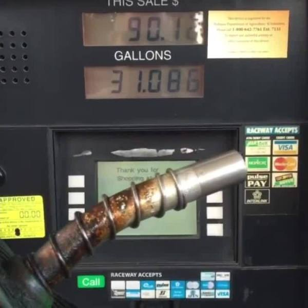 Gas Pump Raises Price