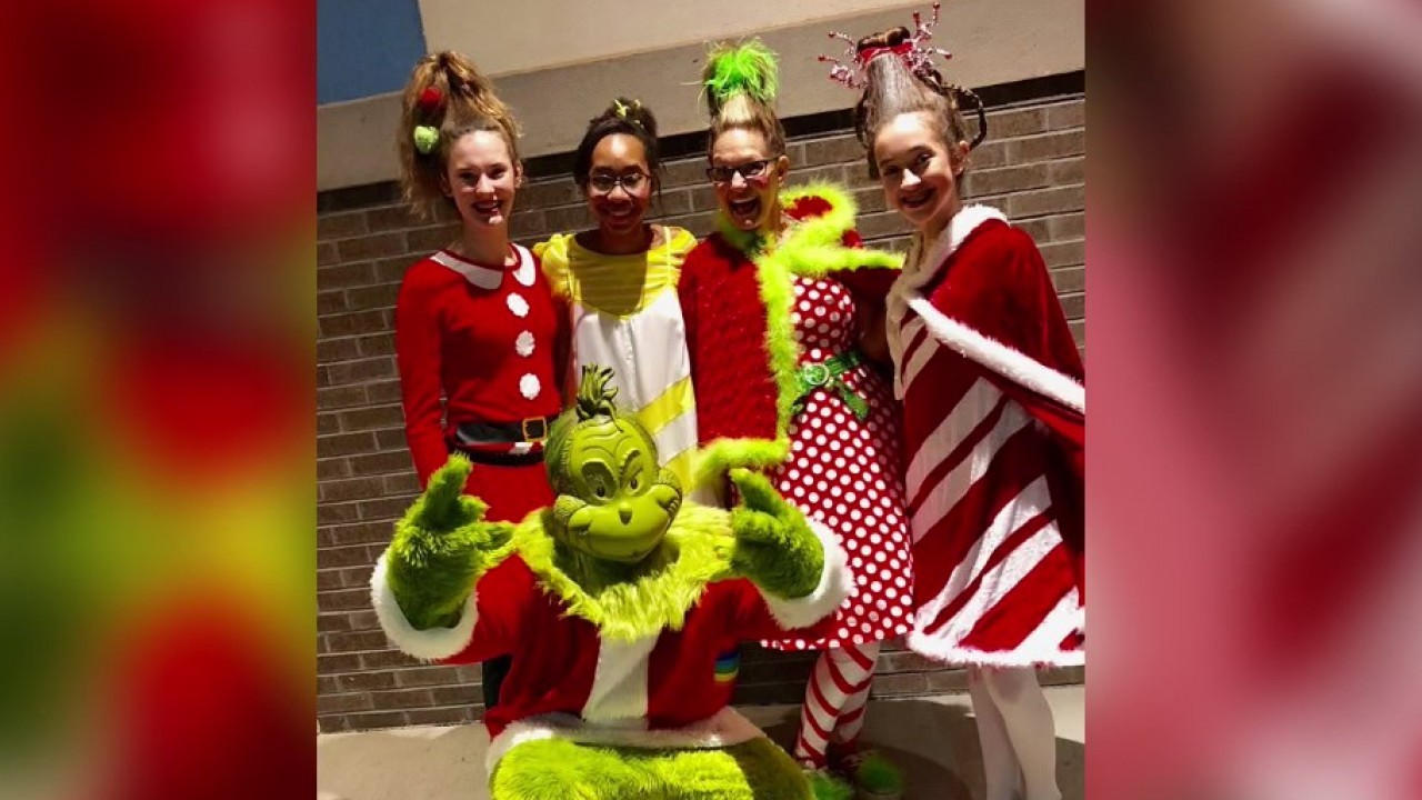 Whoville Characters Around Enterprise Promote Upcoming Christmas Open House
