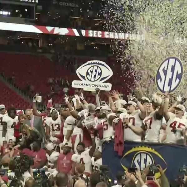 Alabama Crimson Tide celebrates winning SEC Championship 2018