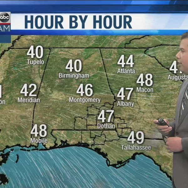 WDHN Storm Team: Better Weather for the Afternooon
