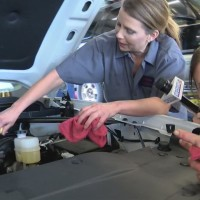 Mandy and Tonya get down and dirty as they attempt to be mechanics