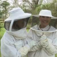 Mandy and Tonya shadow a local beekeeper