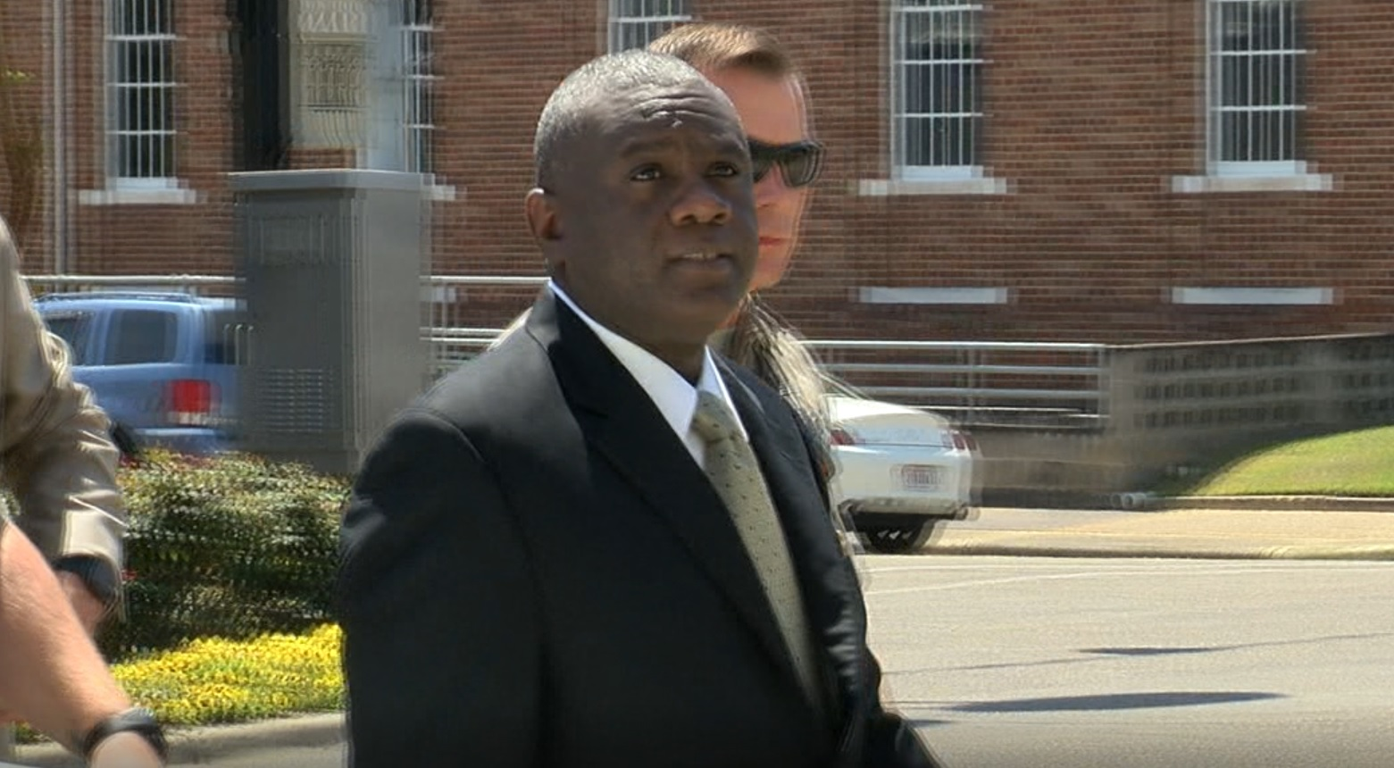 Coley McCraney enters Dale Co. Courthouse