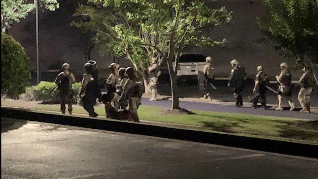 SWAT Team making entry