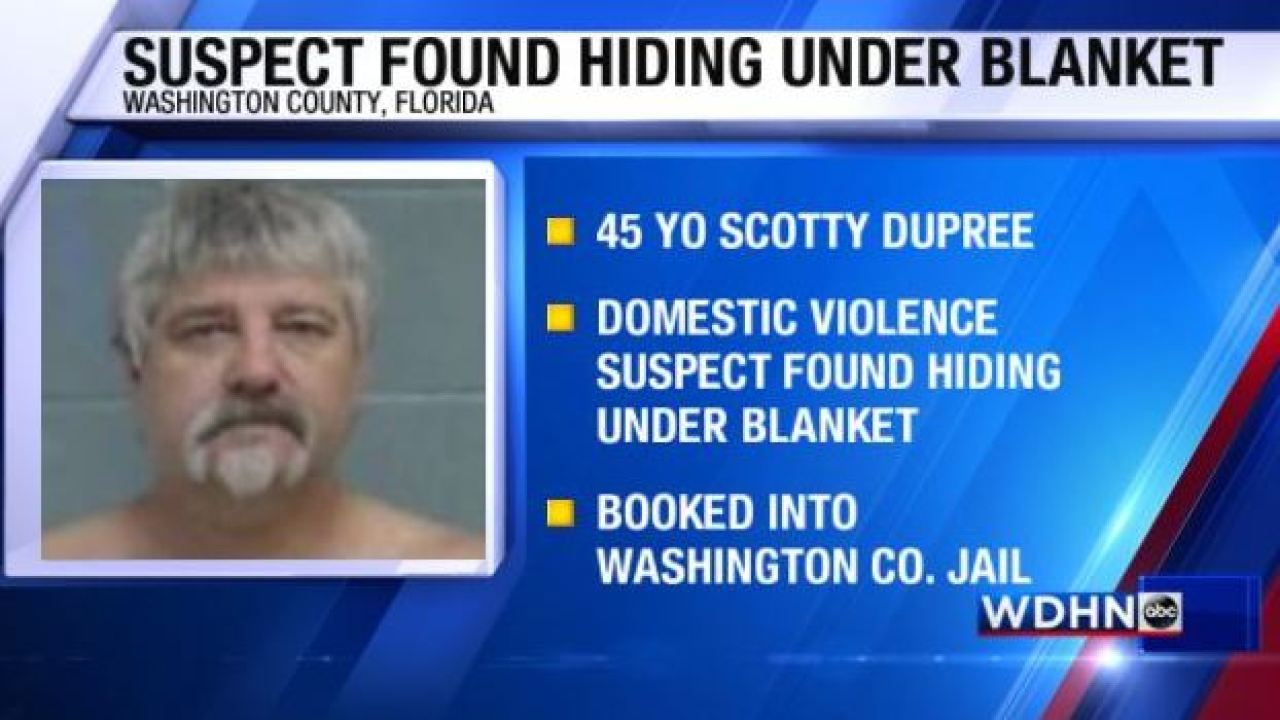 Domestic Violence Suspect Found Hiding Under A Blanket