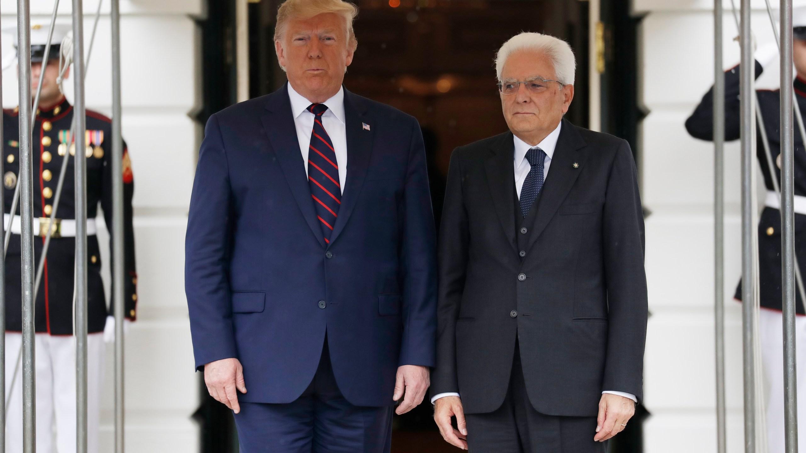 Donald TrumpSergio Mattarella