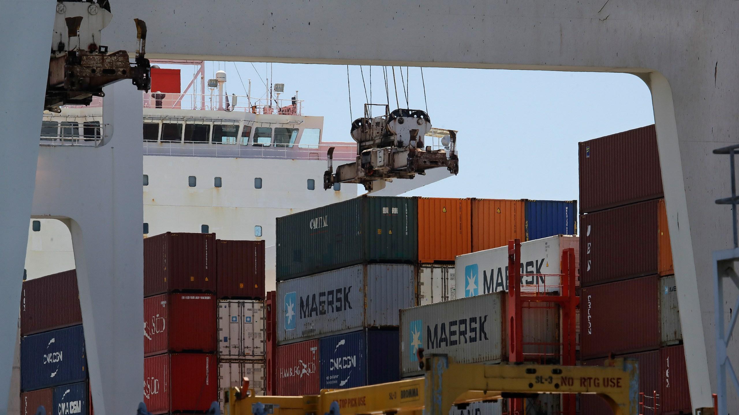 Container Ship Kota Ekspres Unloaded