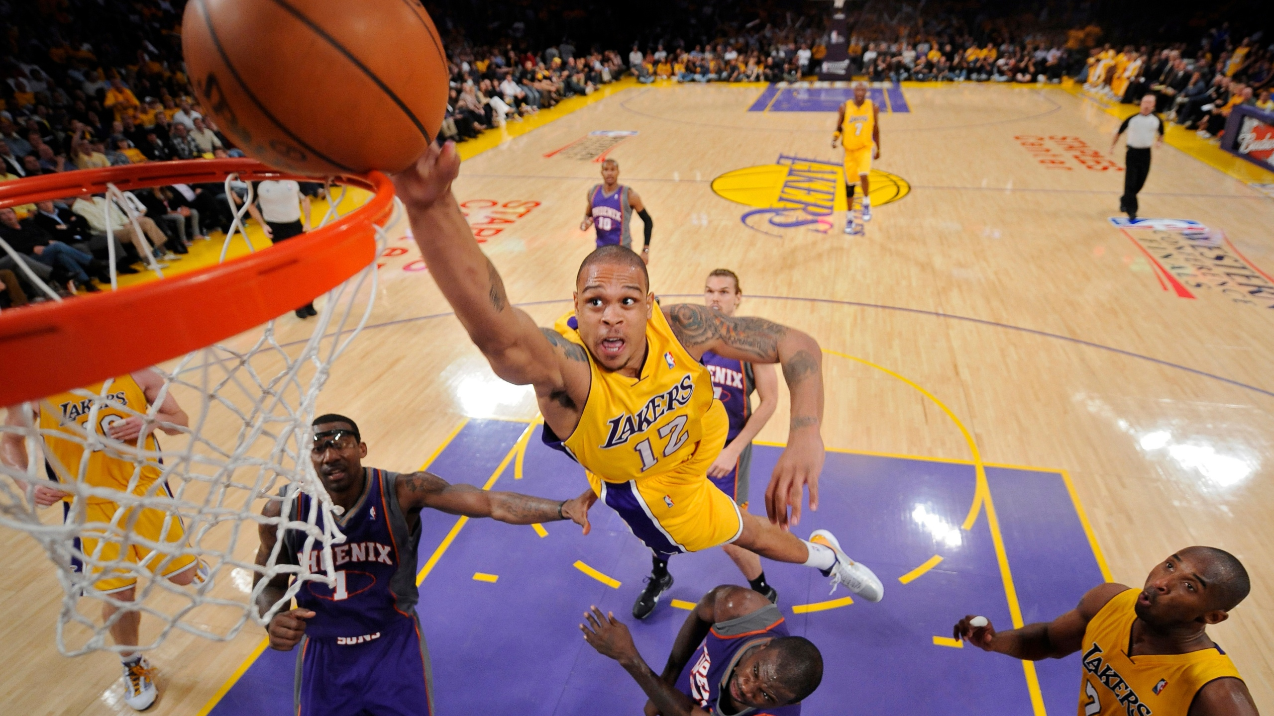 Shannon Brown, Amare Stoudemire, Jason Richardson, Kobe Bryant