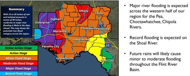 All Of Coffee County Near Pea River Under Major Risk Of Flooding Ema Says Wdhn Dothanfirst Com